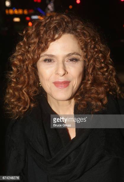 Bernadette Peters poses at the opening night of the play 'A Doll's House Part 2' on Broadway at The Golden Theatre on April 27 2017 in New York City