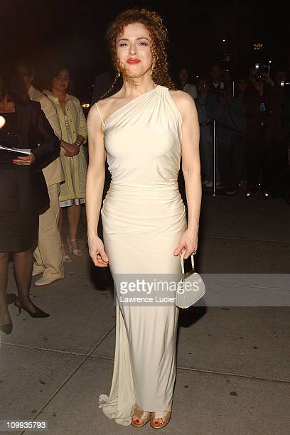 Bernadette Peters wearing Donna Karan during Gypsy Opening Night Afterparty May 1 2003 at Gustavino's in New York New York United States