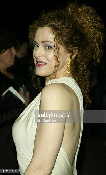 Bernadette Peters wearing Donna Karan during Opening Night of 'Gypsy' After Party Arrivals at Gustavino's in New York New York United States