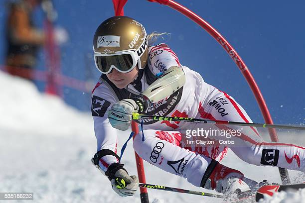 Bernadette Schild Austria in action during the Women's Giant Slalom competition at Coronet Peak New Zealand during the Winter Games Queenstown New...