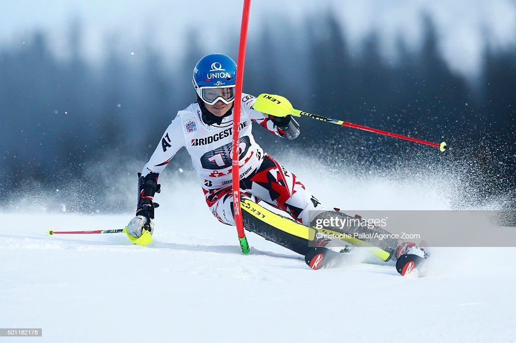 <a gi-track='captionPersonalityLinkClicked' href=/galleries/search?phrase=Bernadette+Schild&family=editorial&specificpeople=7408037 ng-click='$event.stopPropagation()'>Bernadette Schild</a> of Austria competes during the Audi FIS Alpine Ski World Cup Women's Slalom on December 13, 2015 in Are, Sweden.