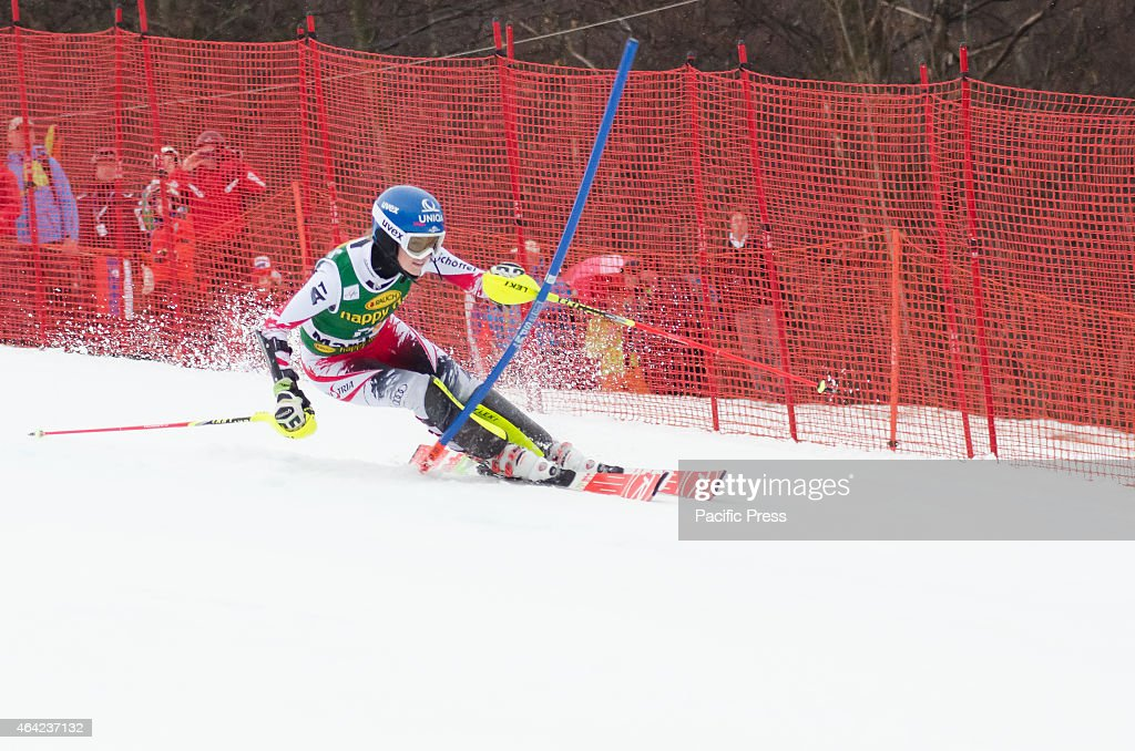 <a gi-track='captionPersonalityLinkClicked' href=/galleries/search?phrase=Bernadette+Schild&family=editorial&specificpeople=7408037 ng-click='$event.stopPropagation()'>Bernadette Schild</a> (AUT) on the course during Slalom race at 51st Golden fox in Maribor.