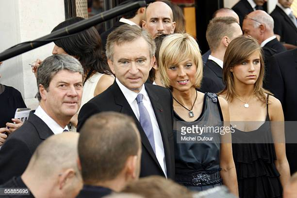 Bernard and Helene Arnaud attend the Louis Vuitton Store Launch the opening of the longawaited flagship fashion store which is reportedly Louis...