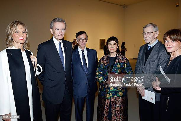 Bernard Arnault and his wife Helene Arnault JeanPaul Claverie Directrice Musee Pouchkine Marina Lochak Guest and Guest attend 'Les Clefs d'Une...