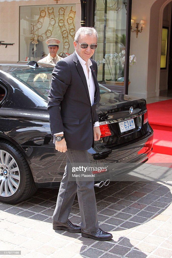 <a gi-track='captionPersonalityLinkClicked' href=/galleries/search?phrase=Bernard+Arnault&family=editorial&specificpeople=214118 ng-click='$event.stopPropagation()'>Bernard Arnault</a> arrives at the 'Hermitage' hotel to attend the ceremony of the Royal Wedding of <a gi-track='captionPersonalityLinkClicked' href=/galleries/search?phrase=Prince+Albert+II+of+Monaco&family=editorial&specificpeople=201707 ng-click='$event.stopPropagation()'>Prince Albert II of Monaco</a> to <a gi-track='captionPersonalityLinkClicked' href=/galleries/search?phrase=Charlene+-+Princess+of+Monaco&family=editorial&specificpeople=726115 ng-click='$event.stopPropagation()'>Charlene</a> Wittstock in the main courtyard at on July 2, 2011 in Monaco, Monaco.
