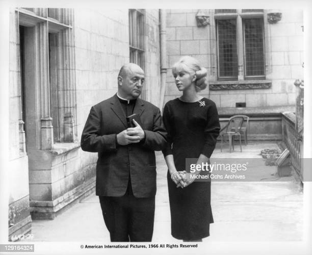 Bernard Blair And Mireille Darc in a scene from the film 'The Great Spy Chase' 1966