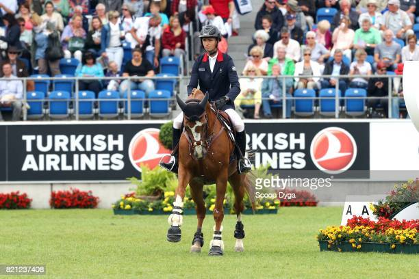 Bernard BRIAND CHEVALIER of France riding QADILLAC DU HEUP during the Rolex Grand Prix part of the Rolex Grand Slam of Show Jumping of the World...