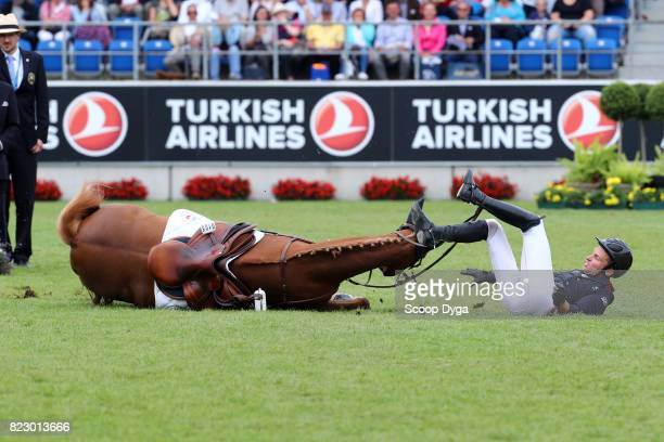 Bernard BRIAND CHEVALIER riding QADILLAC DU HEUP during the Rolex Grand Prix part of the Rolex Grand Slam of Show Jumping of the World Equestrian...