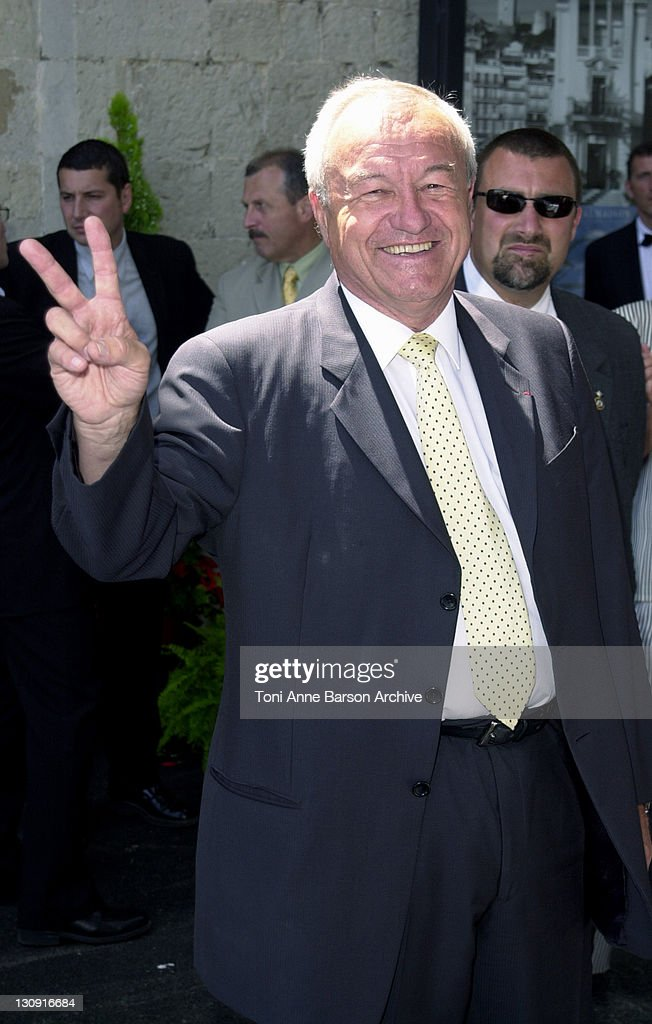 <a gi-track='captionPersonalityLinkClicked' href=/galleries/search?phrase=Bernard+Brochand&family=editorial&specificpeople=2394506 ng-click='$event.stopPropagation()'>Bernard Brochand</a>, Mayor of Cannes during Cannes 2002 - Provencal Lunch Hosted by Cannes Mayor at The Suquet in Cannes, France.