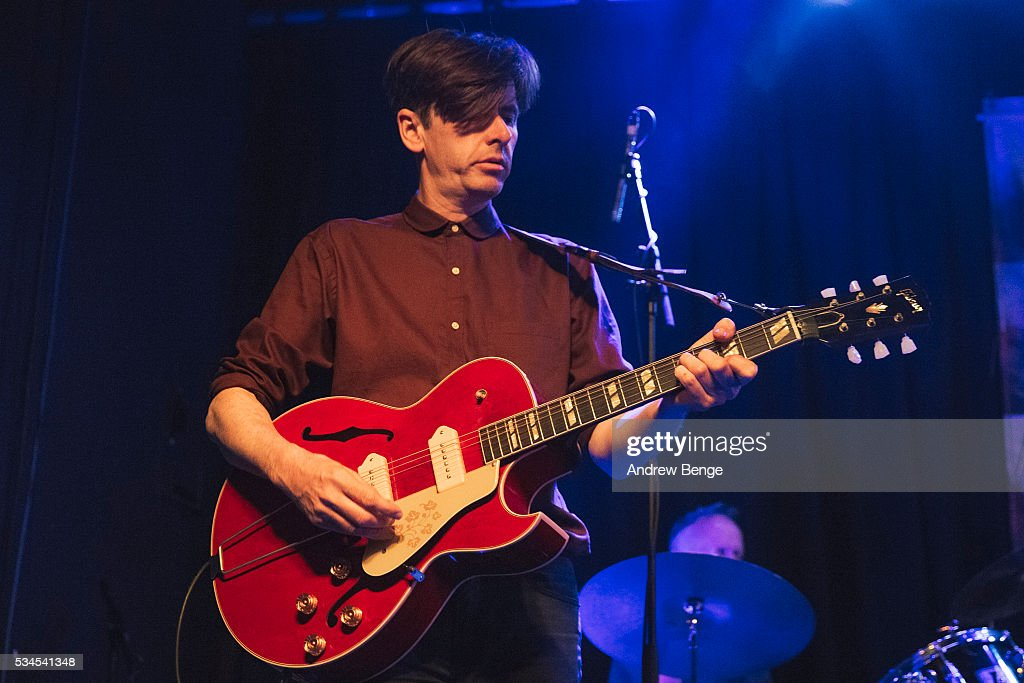 Bernard Butler of the Ben Watt Band performs on stage at Belgrave Music Hall on May 26, 2016 in Leeds, England.