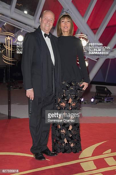 Bernard Danillon and Mathilde Favier Meyer attend the 16th Marrakech International Film Festival Opening Ceremony on December 2 2016 in Marrakech...