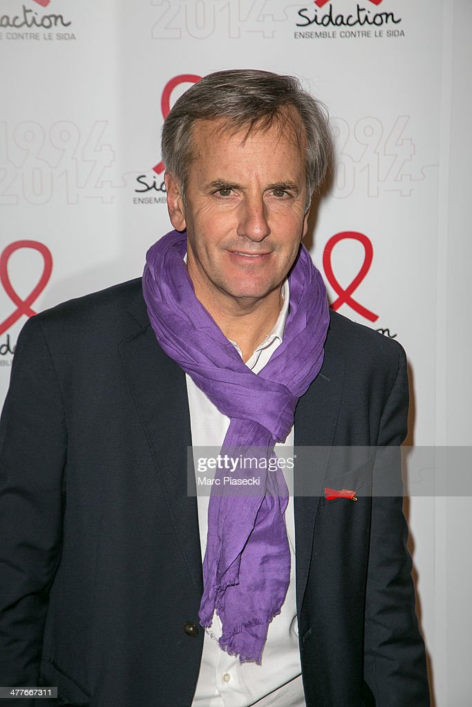 Bernard de la Villardiere attends the 'Sidaction 20th Anniversary' at Musee du Quai Branly on March 10, 2014 in Paris, France.