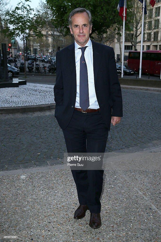 Bernard De La Villardiere attends the UNITAID Party at the Palais d'iena on April 1, 2014 in Paris, France.