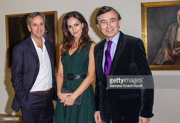 Bernard de la Villardiere Tasha de Vasconcelos and Philippe DousteBlazy attend Dali Private Exhibition Preview at Centre Pompidou on November 18 2012...
