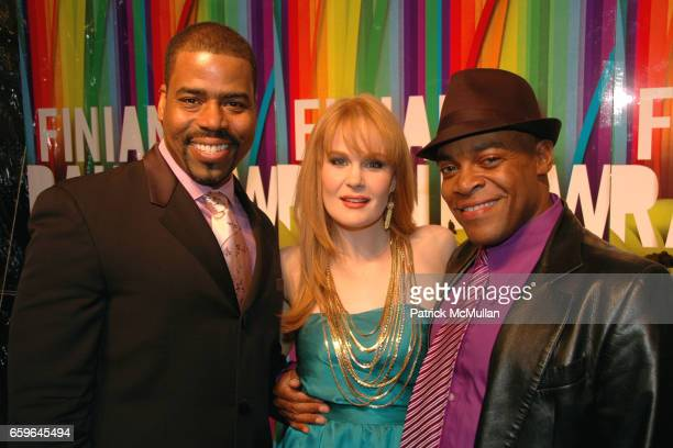 Bernard Dotson Kate Baldwin and Devin Richards attend FINIAN'S RAINBOW Broadway OPENING After Party at Bryant Park Grill on October 29 2009 in New...