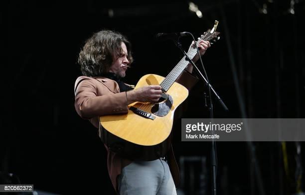 Bernard Fanning performs during Splendour in the Grass 2017 on July 22 2017 in Byron Bay Australia