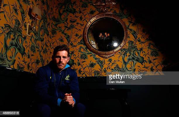 Bernard Foley of Australia poses for a portrait during an Australia media session at the MacDonald Bath Spa Hotel on September 18 2015 in Bath United...