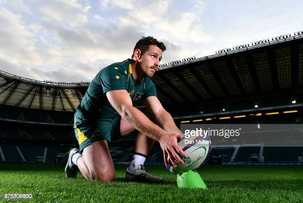 Bernard Foley of Australia poses for a portrait following the Australia Captains Run at Twickenham Stadium on November 17 2017 in London England