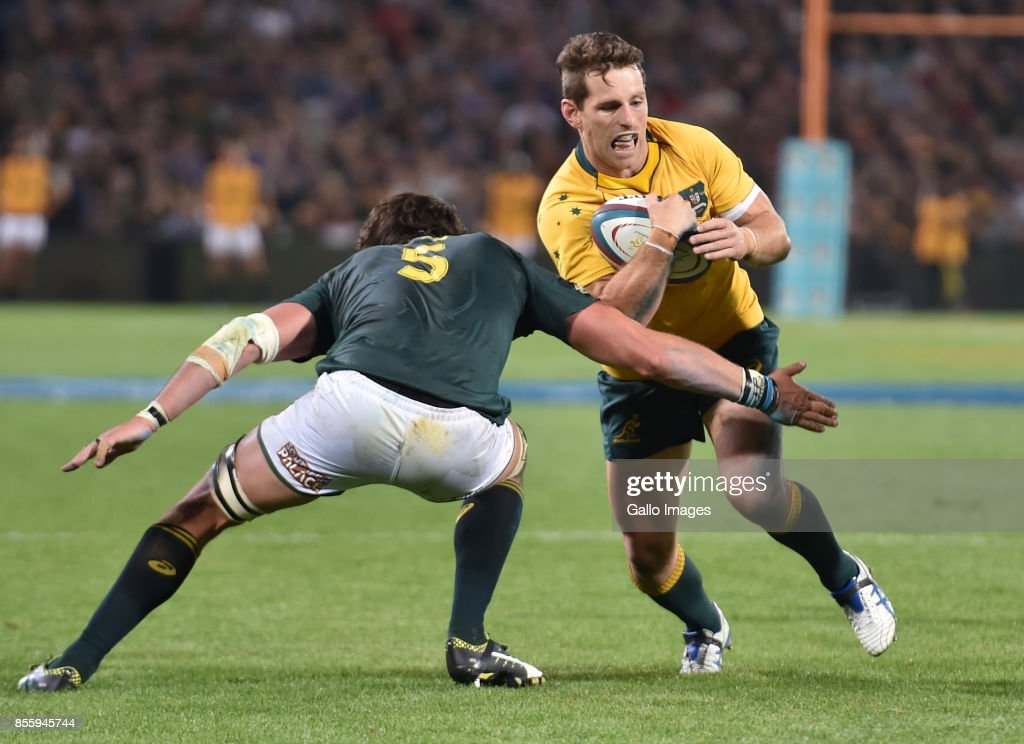 Bernard Foley of the Wallabies during the Rugby Championship 2017 match between South Africa and Australia at Toyota Stadium on September 30, 2017 in Bloemfontein, South Africa.
