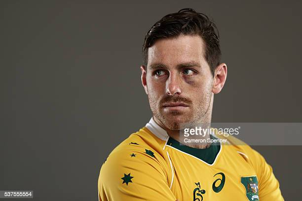 Bernard Foley of the Wallabies poses during an Australian Wallabies portrait session on May 30 2016 in Sunshine Coast Australia