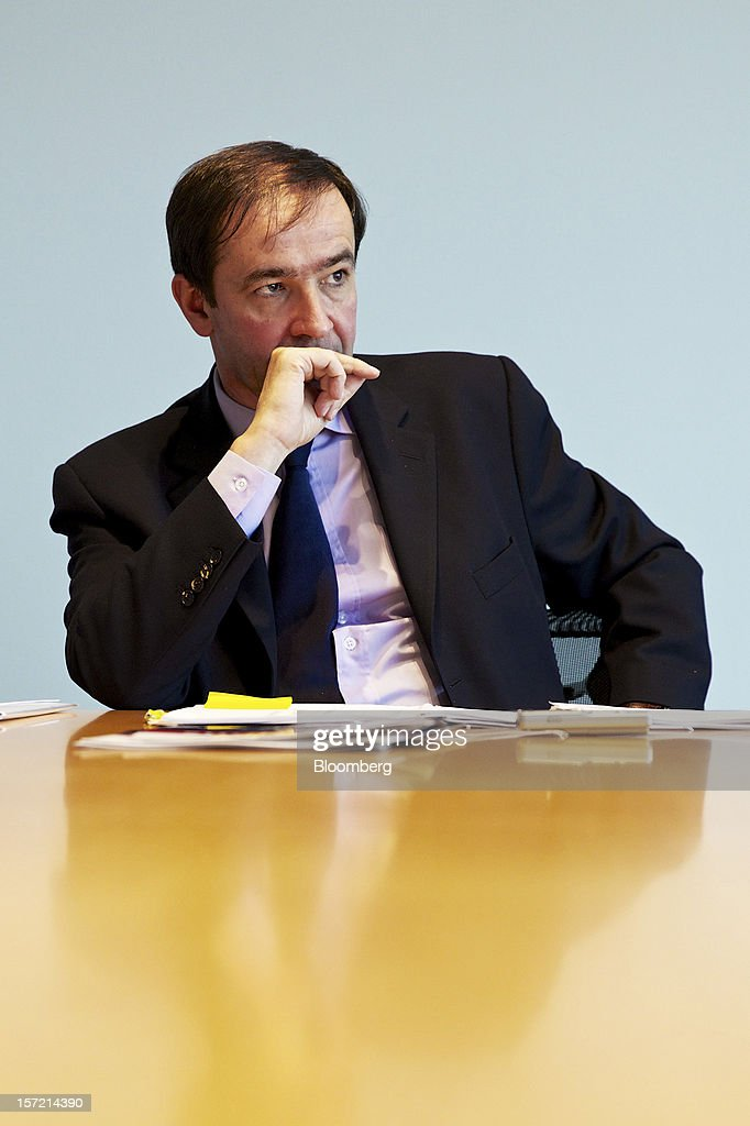 Bernard Fontana, chief executive officer of Holcim Ltd., pauses during an interview at the company's offices in Zurich, Switzerland, on Thursday, Nov. 29, 2012. Holcim Ltd., the world's largest cement maker, is considering disposals as Fontana deals with a greater-than-expected slowdown in Europe. Photographer: Gianluca Colla/Bloomberg via Getty Images