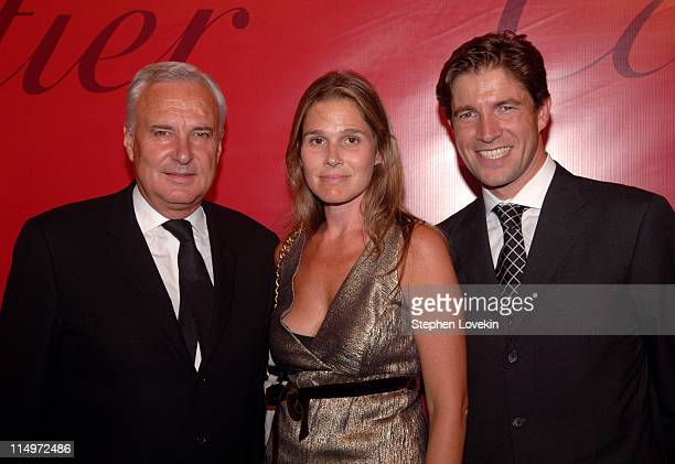 Bernard Fornas President and CEO of Cartier Intl Aerin Lauder and Frederic De Narp President and CEO of Cartier North America