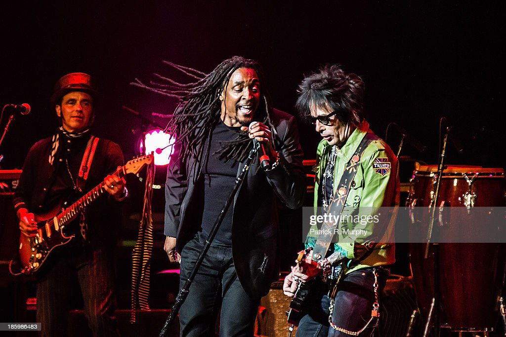 Bernard Fowler and Earl Slick perform at the 18th annual Music Masters series honoring The Rolling Stones at the State Theatre on October 26, 2013 in Cleveland, Ohio.