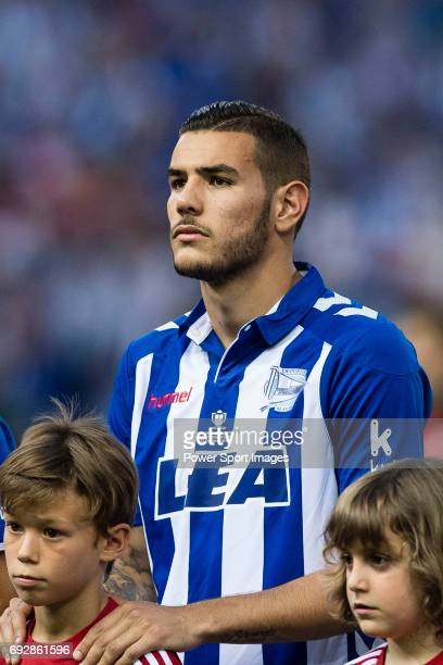 Bernard Francois Hernandez Pi Theo Hernandez of Deportivo Alaves during the Copa Del Rey Final between FC Barcelona and Deportivo Alaves at Vicente...
