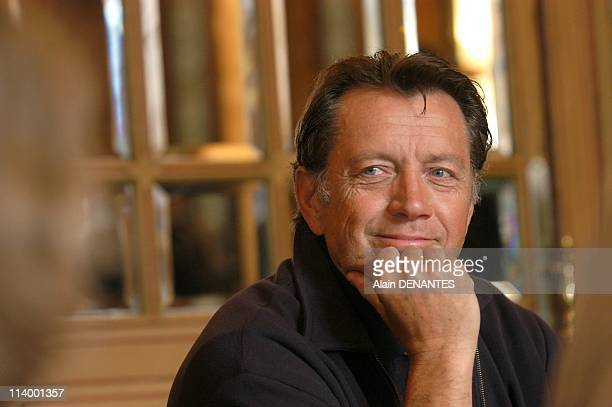 Bernard Giraudeau actor and writer moved to Nantes to present his lastest book 'Les hommes a terre' published by Editions Metailie In Nantes France...