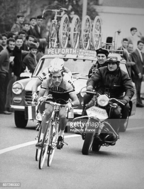 Bernard Guyot lors du Trophée Baracchi à Bergame en Italie le 4 novembre 1967