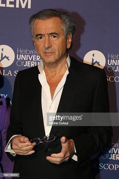 Bernard Henri Levy attends the 'Scopus Awards' 2013 at Espace Cambon Capucines on April 10 2013 in Paris France