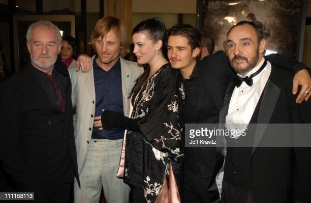 Bernard Hill Viggo Mortensen Liv Tyler Orlando Bloom and John RhysDavies