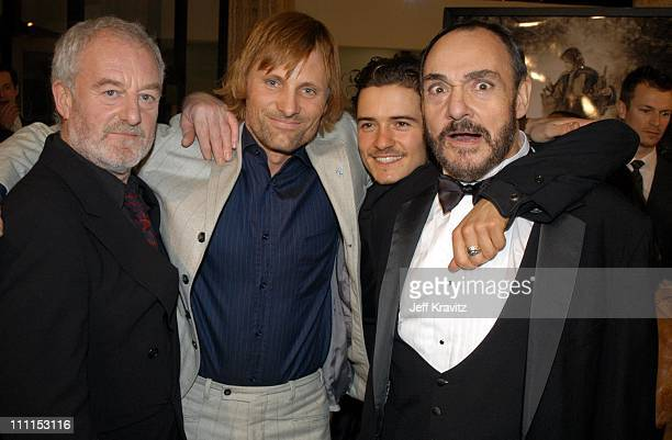 Bernard Hill Viggo Mortensen Orlando Bloom and John RhysDavies