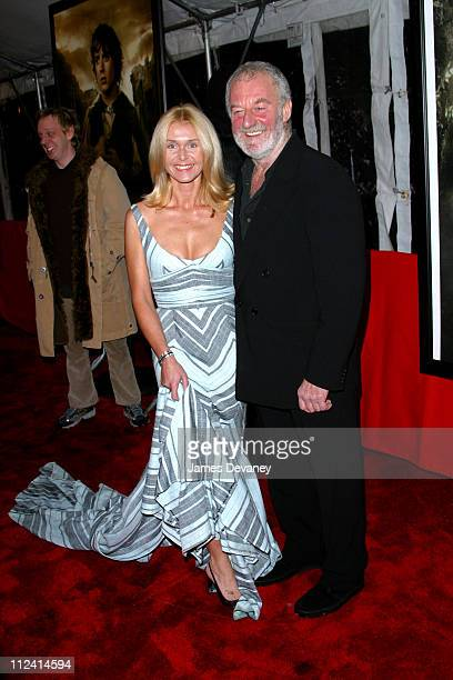 Bernard Hill wife during 'The Lord of The Rings The Two Towers' Premiere New York at Ziegfeld Theatre in New York City New York United States