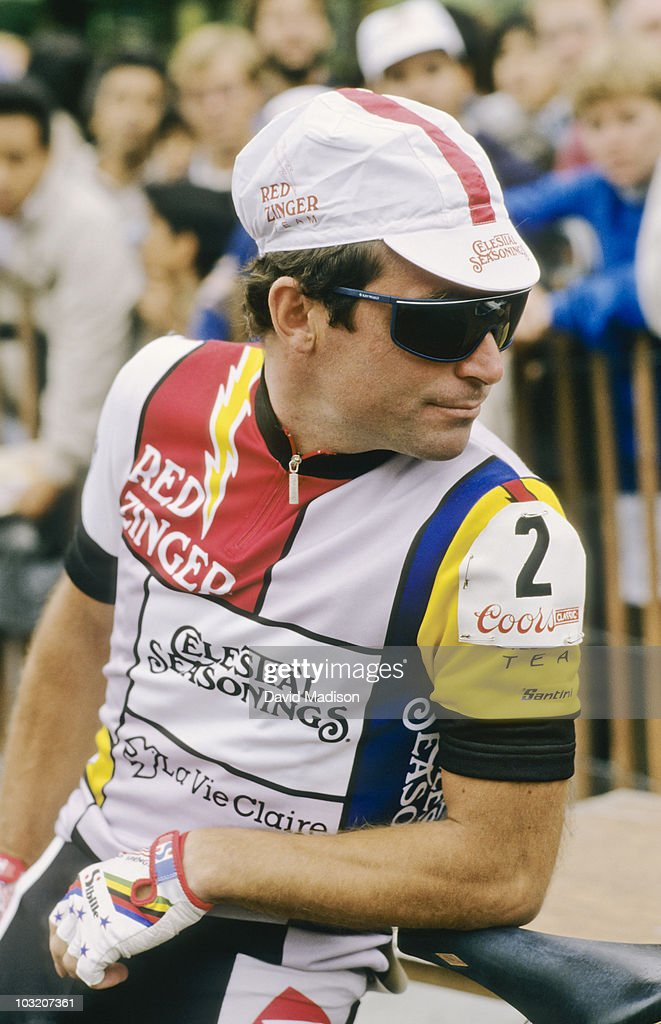 <a gi-track='captionPersonalityLinkClicked' href=/galleries/search?phrase=Bernard+Hinault&family=editorial&specificpeople=749939 ng-click='$event.stopPropagation()'>Bernard Hinault</a> before the start of the San Francisco stage of the Coors Classic bicycle race in August 1986 in San Francisco, California.
