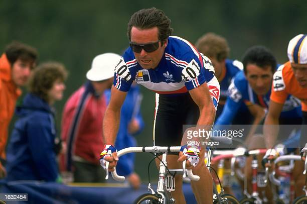 Bernard Hinault of France in action during the World Cycling Championships in Denver Colorado USA Mandatory Credit Allsport UK /Allsport