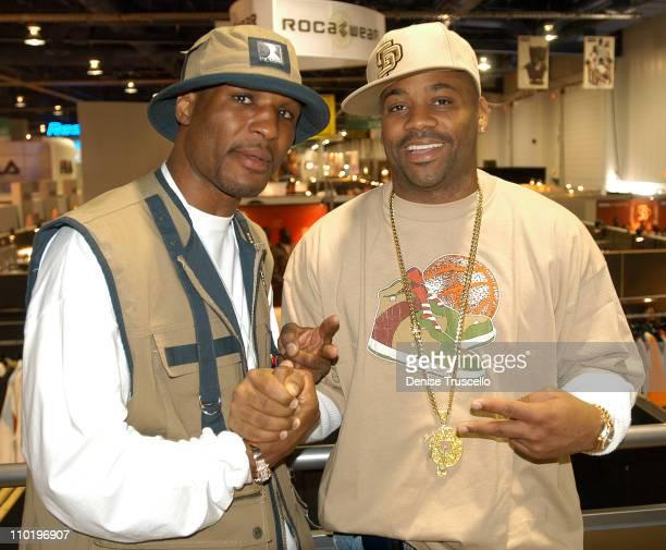Bernard Hopkins and Damon Dash during 2004 MAGIC Show at The Las Vegas Convention Center in Las Vegas Nevada