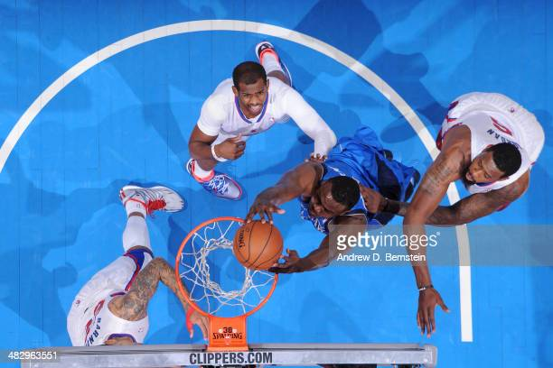 Bernard James of the Dallas Mavericks dunks against the Los Angeles Clippers at Staples Center on April 3 2014 in Los Angeles California NOTE TO USER...