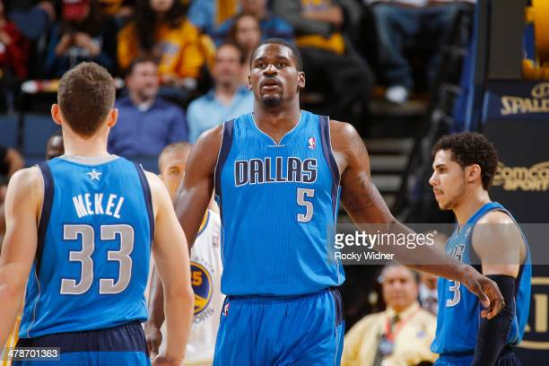 Bernard James of the Dallas Mavericks in a game against the Golden State Warriors on March 11 2014 at Oracle Arena in Oakland California NOTE TO USER...