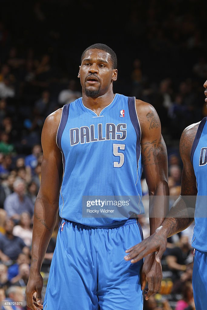 <a gi-track='captionPersonalityLinkClicked' href=/galleries/search?phrase=Bernard+James&family=editorial&specificpeople=7387529 ng-click='$event.stopPropagation()'>Bernard James</a> #5 of the Dallas Mavericks in a game against the Golden State Warriors on March 11, 2014 at Oracle Arena in Oakland, California.