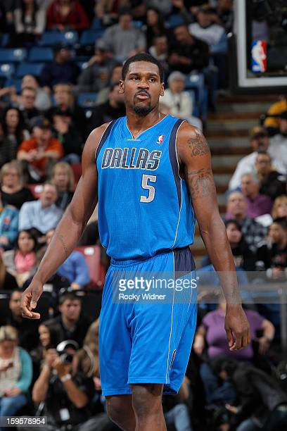 Bernard James of the Dallas Mavericks in a game against the Sacramento Kings on January 10 2013 at Sleep Train Arena in Sacramento California NOTE TO...