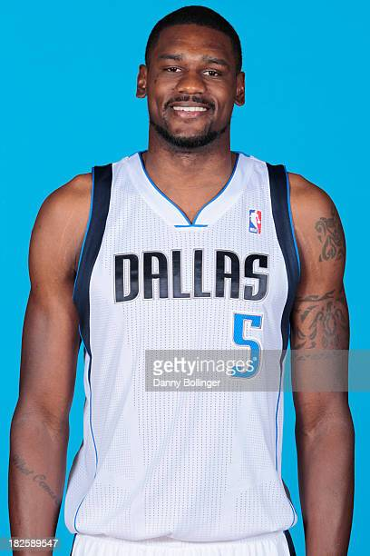 Bernard James of the Dallas Mavericks poses for a headshot at the Dallas Mavericks 20132014 Media Day on September 30 2013 at the American Airlines...