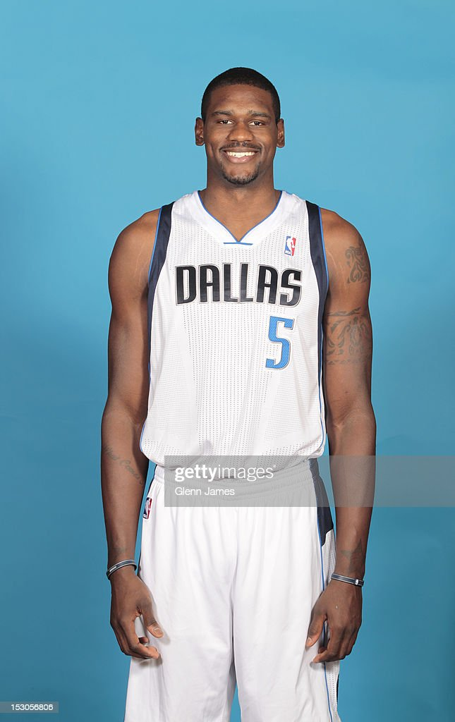 Bernard James #5 of the Dallas Mavericks poses for a photo during the Dallas Mavericks Media Day on September 28, 2012 at the American Airlines Center in Dallas, Texas.