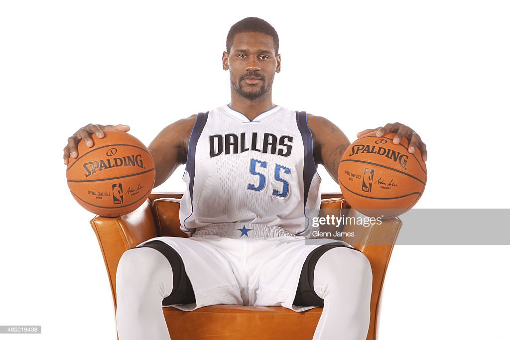 <a gi-track='captionPersonalityLinkClicked' href=/galleries/search?phrase=Bernard+James&family=editorial&specificpeople=7387529 ng-click='$event.stopPropagation()'>Bernard James</a> #55 of the Dallas Mavericks poses for a photo on March 2, 2015 at the American Airlines Center in Dallas, Texas.