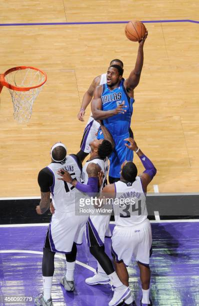 Bernard James of the Dallas Mavericks shoots against the Sacramento Kings on December 9 2013 at Sleep Train Arena in Sacramento California NOTE TO...
