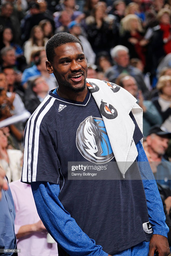 <a gi-track='captionPersonalityLinkClicked' href=/galleries/search?phrase=Bernard+James&family=editorial&specificpeople=7387529 ng-click='$event.stopPropagation()'>Bernard James</a> #5 of the Dallas Mavericks sits on the bench during the game against the Orlando Magic on February 20, 2013 at the American Airlines Center in Dallas, Texas.