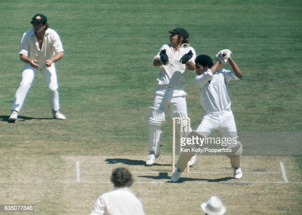 Bernard Julien batting for West Indies during the 3rd Test match between Australia and West Indies at the MCG Melbourne 26th December 1975 The...