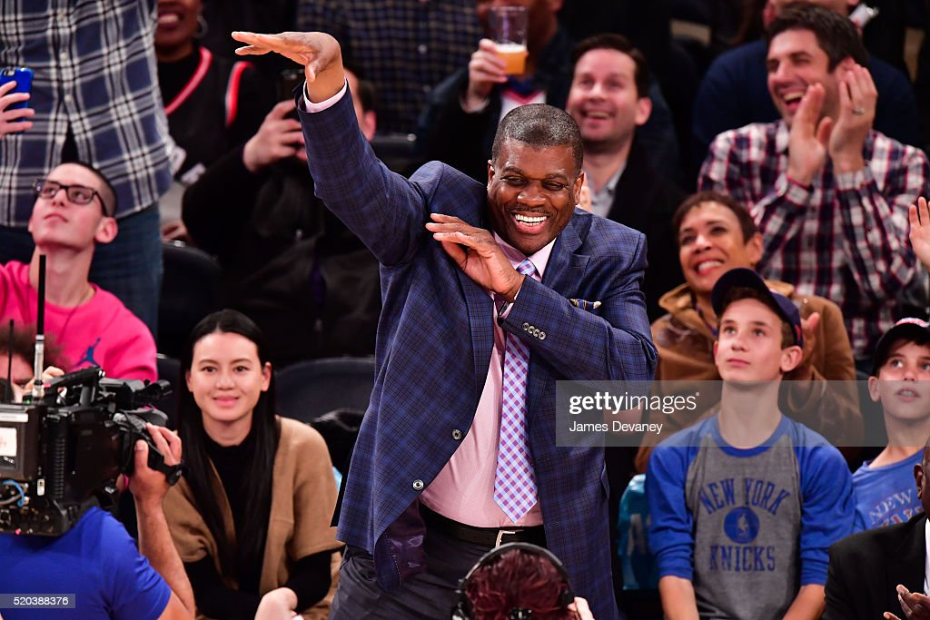Celebrities Attend The Toronto Raptors Vs New York Knicks Game - April 10, 2016