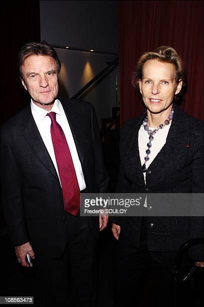 Bernard Kouchner and Christine Ockrent in Paris France on February 05 2007