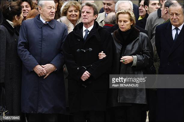 Bernard Kouchner and Christine Ockrent in Paris France on January 29 2007
